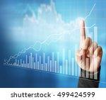 businessman with financial...   Shutterstock . vector #499424599
