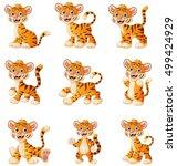 vector illustration of  tiger...   Shutterstock .eps vector #499424929