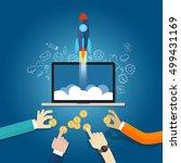 money funding startup financial ... | Shutterstock .eps vector #499431169