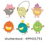 set of cute durian vector  ...   Shutterstock .eps vector #499431751