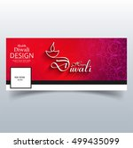 abstarct happy diwali facebook... | Shutterstock .eps vector #499435099