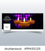 abstarct happy diwali cover | Shutterstock .eps vector #499435135