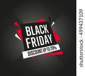 black friday sale discount...   Shutterstock .eps vector #499437109