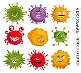cartoon virus character vector... | Shutterstock .eps vector #499437319