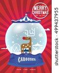 christmas crystal globe design...   Shutterstock .eps vector #499437955