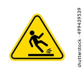 caution wet floor sign. | Shutterstock . vector #499439539