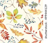 Autumn Background. Hand Drawn...