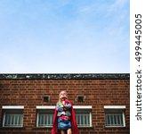 superhero baby girl brave... | Shutterstock . vector #499445005