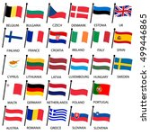 simple color curved flags all... | Shutterstock .eps vector #499446865