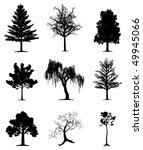 trees collection | Shutterstock . vector #49945066