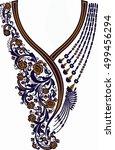 hungarian folk art | Shutterstock .eps vector #499456294