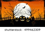 halloween background with... | Shutterstock .eps vector #499462309