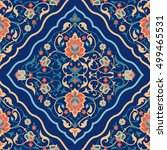 arabic tile design. traditional ... | Shutterstock .eps vector #499465531