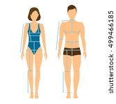 woman and man body front and... | Shutterstock .eps vector #499466185