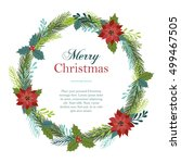 christmas wreath made of... | Shutterstock .eps vector #499467505