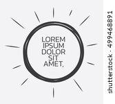 shine line frame or border... | Shutterstock .eps vector #499468891