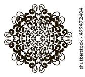 bohemian indian mandala print.... | Shutterstock .eps vector #499472404