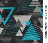 abstract hipster polygon... | Shutterstock .eps vector #499475881