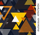 abstract hipster polygon... | Shutterstock .eps vector #499476454