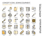 sewing equipment   thin line... | Shutterstock .eps vector #499479931
