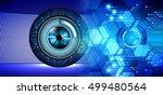 future technology  blue eye... | Shutterstock . vector #499480564