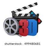 movie cinema concept. 3d... | Shutterstock . vector #499480681