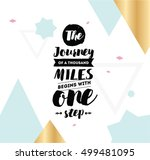 the journey of a thousand miles ... | Shutterstock .eps vector #499481095