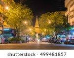 nakhon pathom october 12  night ... | Shutterstock . vector #499481857