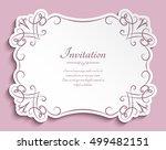 rectangle cutout paper frame... | Shutterstock .eps vector #499482151