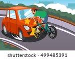 a vector illustration of a kid... | Shutterstock .eps vector #499485391
