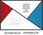 comic frame space for text and... | Shutterstock .eps vector #499486159