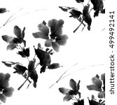 floral seamless pattern of... | Shutterstock . vector #499492141