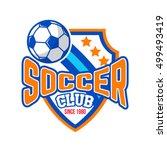 soccer badge logo | Shutterstock .eps vector #499493419