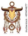 aztec dreamcatcher | Shutterstock .eps vector #499494877