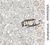 cartoon cute doodles hand drawn ... | Shutterstock .eps vector #499496965
