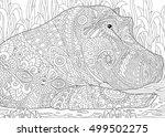 Stylized Hippopotamus  Hippo ...