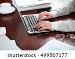 close up of business woman... | Shutterstock . vector #499507177