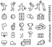 basketball icon set | Shutterstock .eps vector #499508491