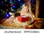 cute little girl is unhappy... | Shutterstock . vector #499510861
