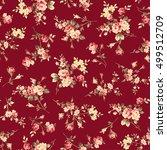 flower illustration pattern   Shutterstock .eps vector #499512709
