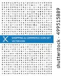 shopping and commerce icon set... | Shutterstock .eps vector #499515889