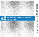 database and network icon set... | Shutterstock .eps vector #499515904