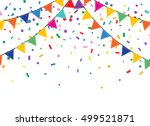 holiday background with bunting ... | Shutterstock . vector #499521871