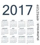 2017 calendar planner design.... | Shutterstock .eps vector #499527259