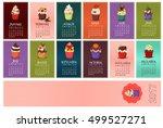 cupcake calendar for 2017 year... | Shutterstock .eps vector #499527271