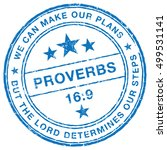 proverbs 16 9  holy bible quote ... | Shutterstock .eps vector #499531141