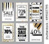 set of social media sale...   Shutterstock .eps vector #499537795