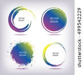 set of colorful grunge circle... | Shutterstock .eps vector #499542229