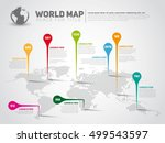 simple world map infographic... | Shutterstock .eps vector #499543597