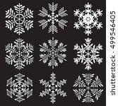 snowflakes on black background. ... | Shutterstock .eps vector #499546405